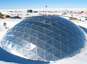 geodesic dome - living quarters in Antarctica